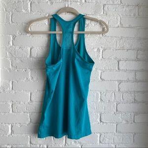 Nike Turquoise Mesh Like Tank Top Sz Medium
